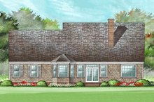Country Exterior - Rear Elevation Plan #137-182
