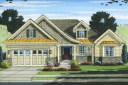 Ranch Style House Plan - 3 Beds 2 Baths 1718 Sq/Ft Plan #46-832 Exterior - Front Elevation