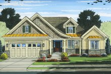 Ranch Exterior - Front Elevation Plan #46-832