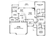 Traditional Style House Plan - 3 Beds 2.5 Baths 2700 Sq/Ft Plan #124-774 Floor Plan - Main Floor Plan