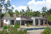 Modern Style House Plan - 4 Beds 4 Baths 5009 Sq/Ft Plan #484-9 Exterior - Rear Elevation