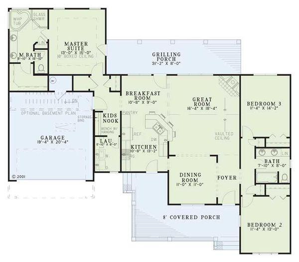 Traditional Floor Plan - Main Floor Plan #17-2513