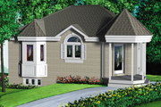European Style House Plan - 2 Beds 1 Baths 889 Sq/Ft Plan #25-1003 Exterior - Front Elevation