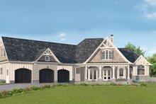 Dream House Plan - Craftsman Exterior - Front Elevation Plan #54-381