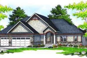 Traditional Exterior - Front Elevation Plan #70-617