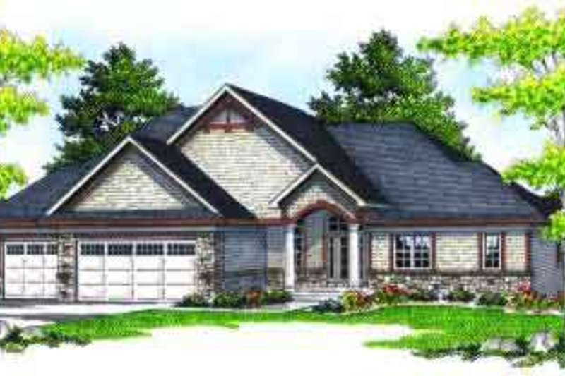 Dream House Plan - Traditional Exterior - Front Elevation Plan #70-617