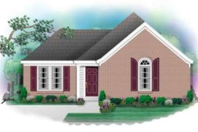 Ranch Style House Plan - 3 Beds 2 Baths 1212 Sq/Ft Plan #81-688 Exterior - Front Elevation