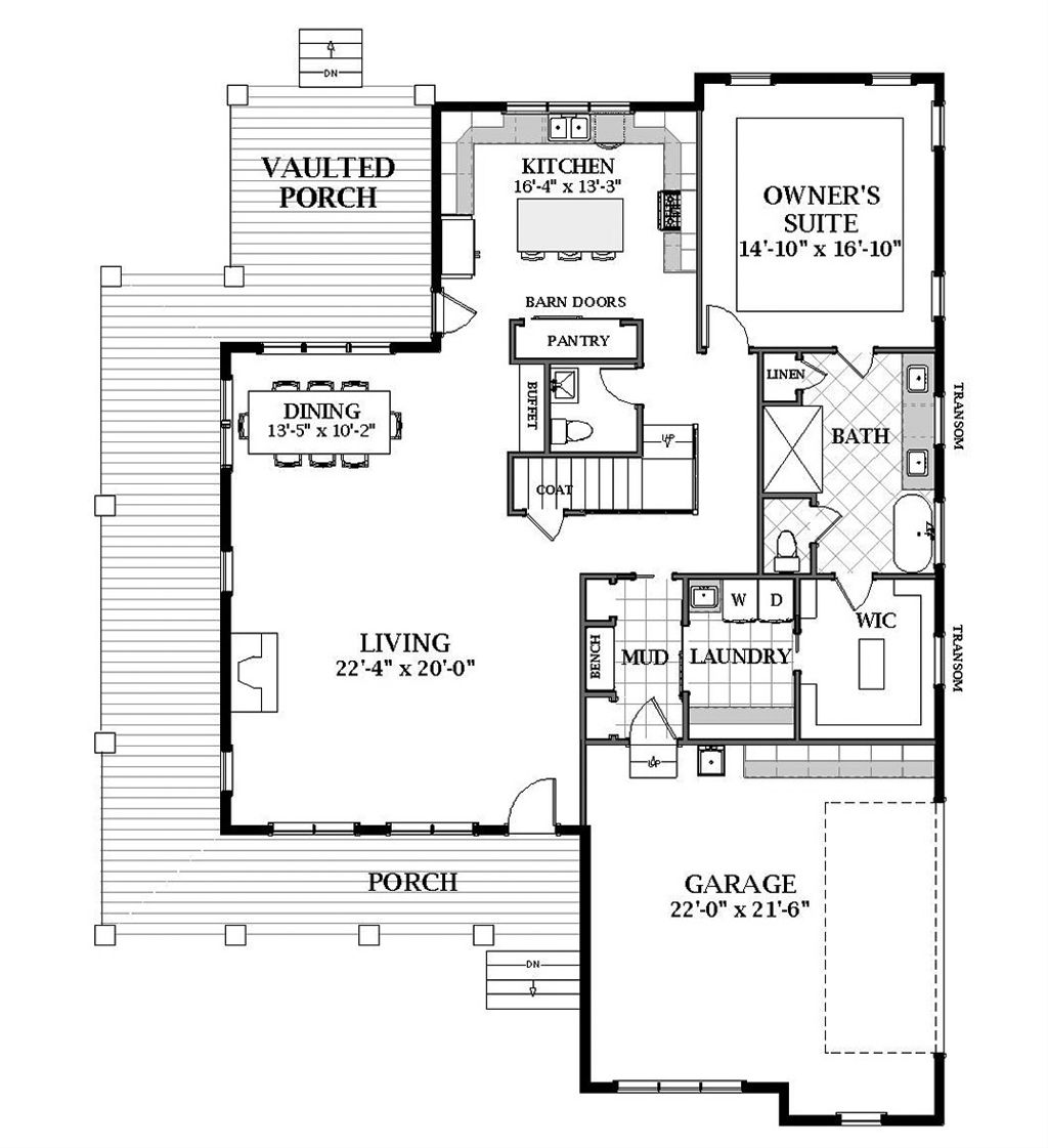 Craftsman Style House Plan - 4 Beds 4 5 Baths 3146 Sq/Ft