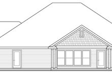 Dream House Plan - Craftsman Exterior - Rear Elevation Plan #124-886