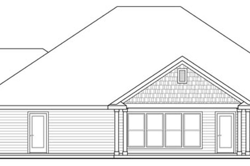 Craftsman Exterior - Rear Elevation Plan #124-886 - Houseplans.com