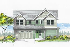 Home Plan - Craftsman Exterior - Front Elevation Plan #53-604