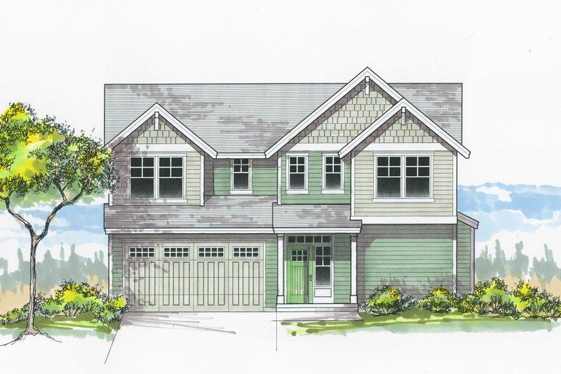 Architectural House Design - Craftsman Exterior - Front Elevation Plan #53-604