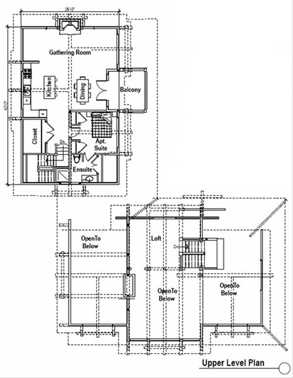 Craftsman Floor Plan - Upper Floor Plan Plan #451-14