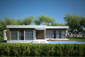 Modern Style House Plan - 3 Beds 2 Baths 1539 Sq/Ft Plan #552-2 Exterior - Front Elevation