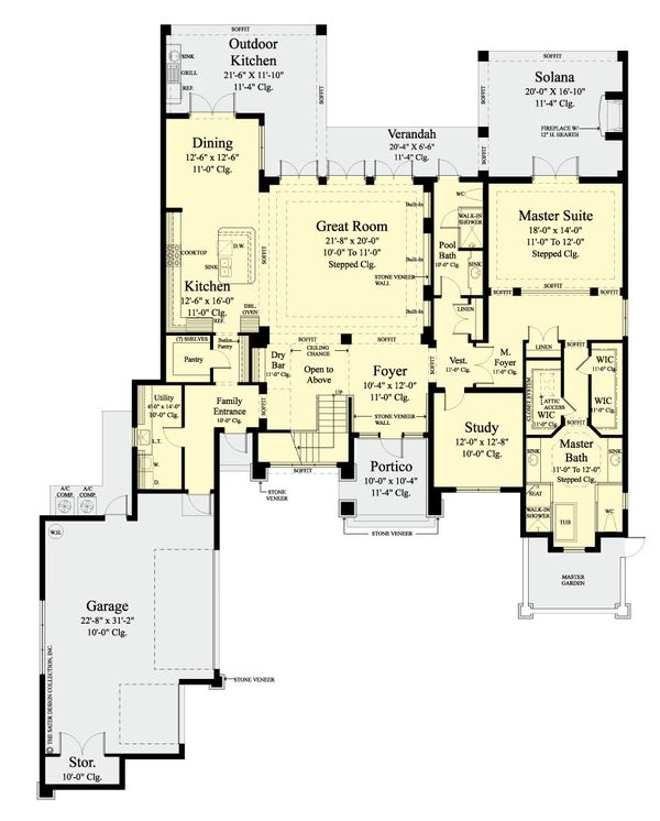 Contemporary Floor Plan - Main Floor Plan #930-461