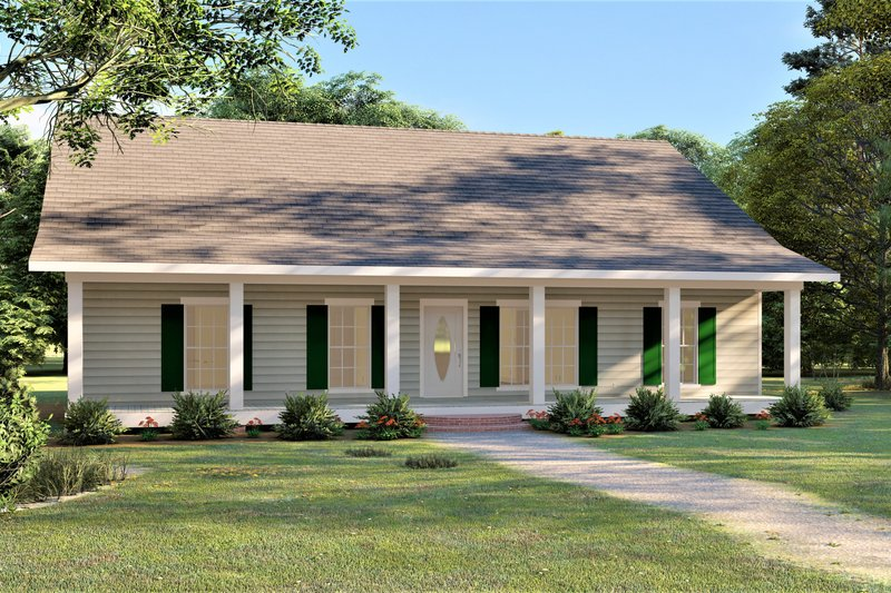 Home Plan - Southern Exterior - Front Elevation Plan #44-252