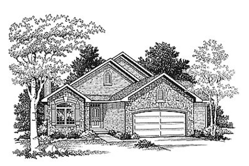 Traditional Exterior - Front Elevation Plan #70-167