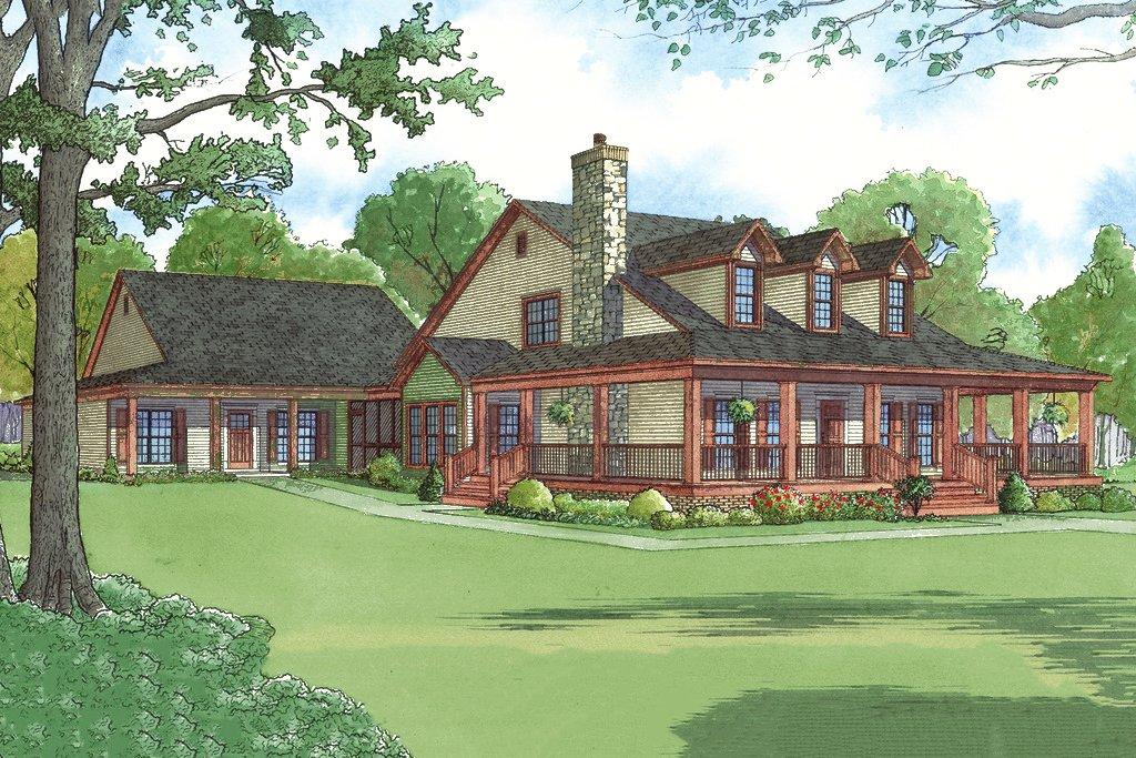 Farmhouse Style House Plan 6 Beds 4 Baths 3437 Sq Ft