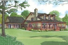 Home Plan - Farmhouse Exterior - Front Elevation Plan #923-22