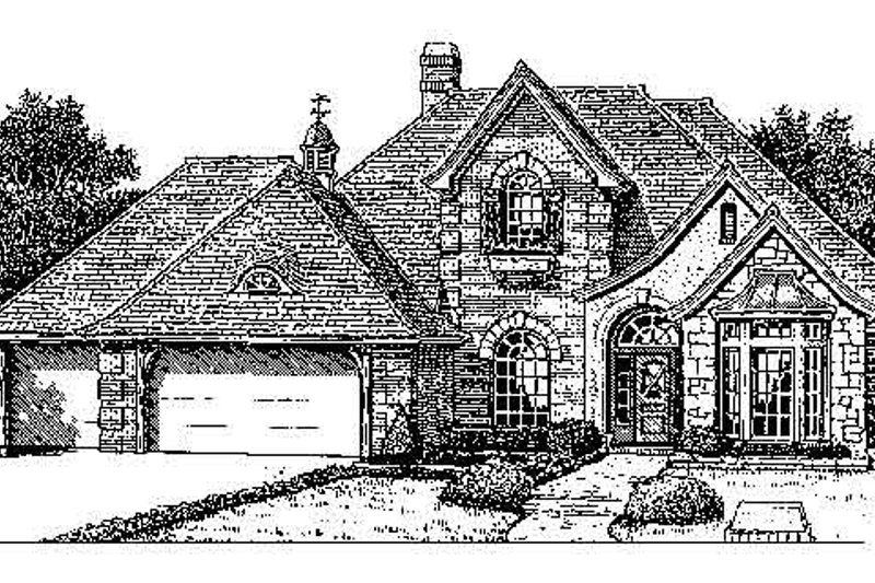 Colonial Style House Plan - 4 Beds 3.5 Baths 2616 Sq/Ft Plan #310-726 Exterior - Front Elevation