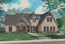 European Exterior - Front Elevation Plan #923-96