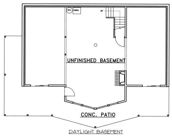 Cabin Floor Plan - Lower Floor Plan Plan #117-573