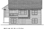 Traditional Style House Plan - 2 Beds 2 Baths 1306 Sq/Ft Plan #70-107 Exterior - Rear Elevation