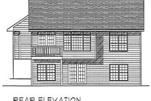 Dream House Plan - Traditional Exterior - Rear Elevation Plan #70-107