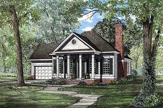 Classical Exterior - Front Elevation Plan #17-179
