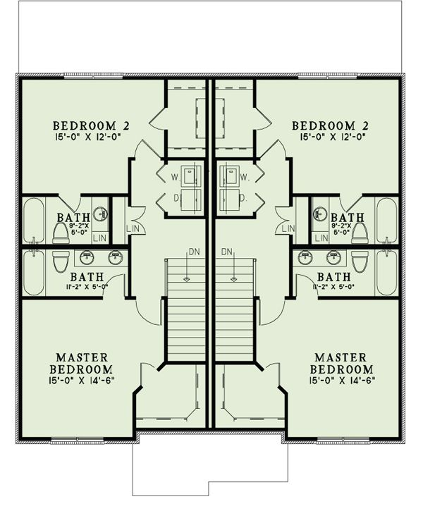 European Floor Plan - Upper Floor Plan Plan #17-2526