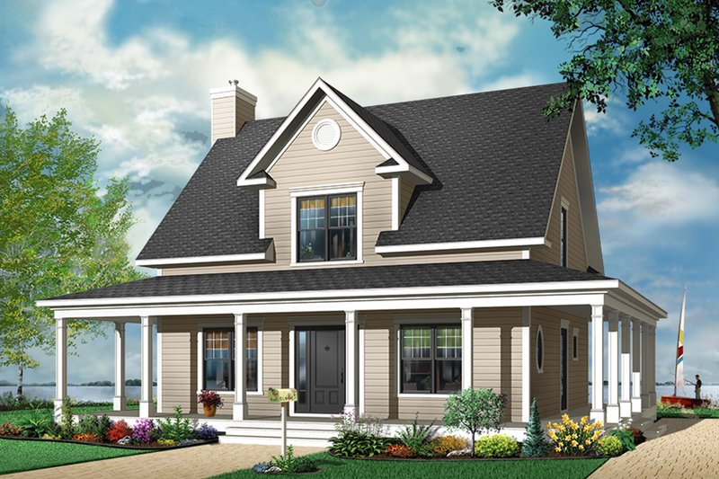 Dream House Plan - Traditional Exterior - Front Elevation Plan #23-822