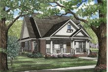 House Plan Design - Cottage Exterior - Front Elevation Plan #17-1029