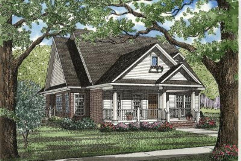 Dream House Plan - Cottage Exterior - Front Elevation Plan #17-1029
