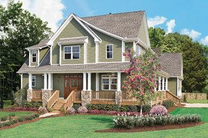 Country Exterior - Front Elevation Plan #929-19