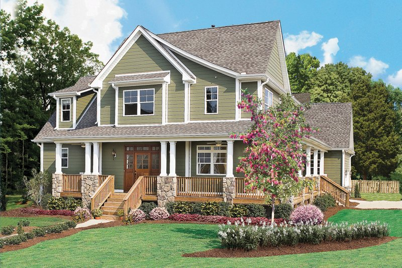 Dream House Plan - Country Exterior - Front Elevation Plan #929-19