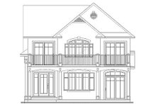 Home Plan - Traditional Exterior - Rear Elevation Plan #23-2011