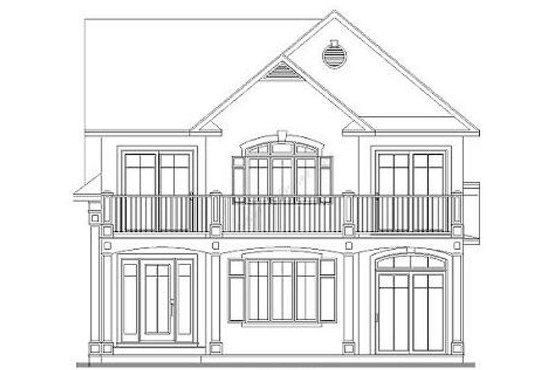 Traditional Exterior - Rear Elevation Plan #23-2011 - Houseplans.com
