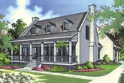 Southern Style House Plan - 3 Beds 2.5 Baths 1700 Sq/Ft Plan #45-189 Exterior - Front Elevation