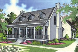 Southern Exterior - Front Elevation Plan #45-189