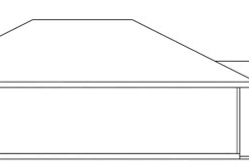 Traditional Exterior - Rear Elevation Plan #124-638 - Houseplans.com