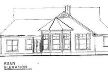 House Plan Design - Country Exterior - Rear Elevation Plan #20-624