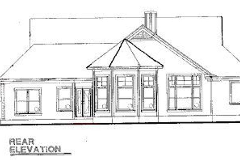 Country Exterior - Rear Elevation Plan #20-624 - Houseplans.com