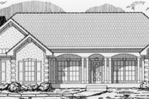 Ranch Exterior - Front Elevation Plan #112-115