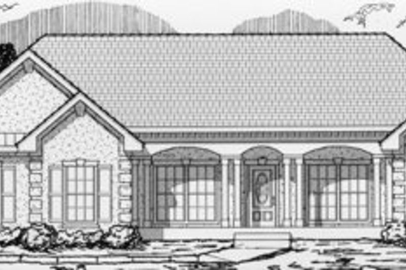 Ranch Style House Plan - 3 Beds 2 Baths 1626 Sq/Ft Plan #112-115 Exterior - Front Elevation