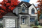 European Style House Plan - 3 Beds 1.5 Baths 1335 Sq/Ft Plan #138-206 Exterior - Front Elevation