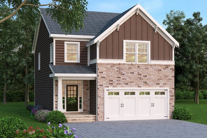 Craftsman Style House Plan - 4 Beds 2 Baths 2303 Sq/Ft Plan #419-219 Exterior - Front Elevation