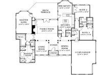 European Floor Plan - Main Floor Plan Plan #453-30