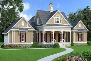 Dream House Plan - Traditional Exterior - Front Elevation Plan #45-380