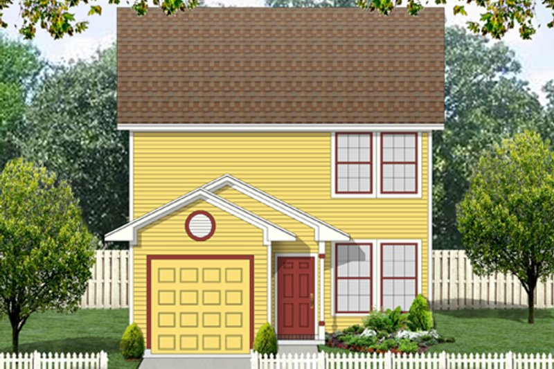Colonial Exterior - Front Elevation Plan #84-544