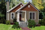 Cottage Style House Plan - 3 Beds 2 Baths 1152 Sq/Ft Plan #79-135 Exterior - Front Elevation